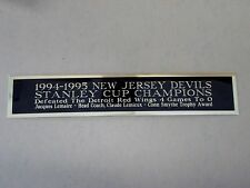 New Jersey Devils 1994-95 Stanley Cup Nameplate For A Hockey Jersey Case 1.25X6