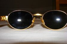VINTAGE GIANFRANCO FERRE GFF 250/s GOLD TORTOISE OVAL AMBER LENS MADE IN ITALY