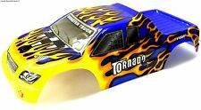08301 1/8 Escala Rc Nitro Monster Truck Body Shell cubrir Corte llama azul
