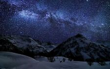 STUNNING WINTER STARS NATURE NIGHT SPACE Large Wall Canvas Print 20x30 Inch