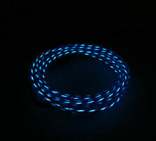 LED Visible Flow Light Micro USB Data Line Sync Charger Cable for HTC phone blue