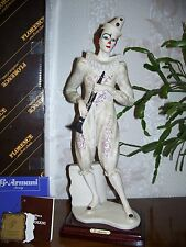 """G. ARMANI Figure Figurine Statue Sculpture """"Clown with Clarinet"""" Musical, Italy"""