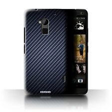 STUFF4 Back Case/Cover/Skin for HTC One Max/Carbon Fibre Effect/Pattern