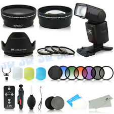 58mm WideAngle Tele Lens & Flash & Grad Filters Kit for Canon 80D 70D 760D 700D
