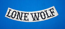 LONE WOLF PATCH ROCKER WHITE FOR BIKER MOTORCYCLE PATCH FOR VEST JACKET NEW