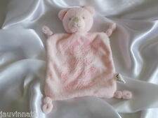 Doudou ours rose, broderie, IKKS