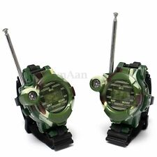 2x  7 in 1 Children Toy Walkie Talkie  Watches Interphone Outdoor Magical Wrist