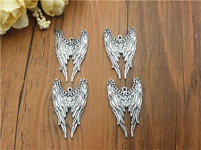 Wholesale 4pcs Tibet silver Wing Charm Pendant beaded Jewelry Findings
