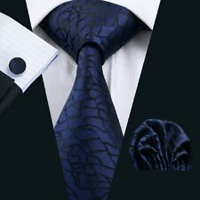C-998 Men tie set Silk Tie Blue Novelty ties Hanky Cufflinks neckwear wedding