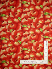 Apple Fruit Kitchen Cotton Fabric Red Apple Sunshine Orchard Wilmington ~ Yard