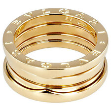 Bvlgari B.zero1 3-Band Gold Ring in US Size 7 1/4