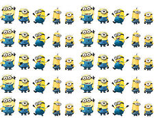 25 Minions Despicable Me Nail WRAPS Nail Art Water Transfers Decals Y801