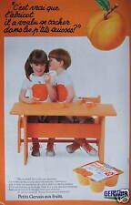 PUBLICITÉ 1980 PETITS GERVAIS AUX FRUITS P'TITS SUISSES  -ADVERTISING