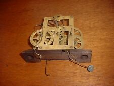 Antique Early OGee O Gee Weight Driven Brass Time Strike Clock Movement D116-M1
