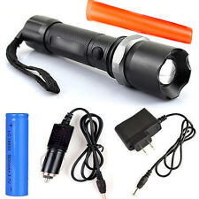 Tactical SWAT Cree Heavy Duty Rechargeable Flashlight XML +18650 Battery+Charger