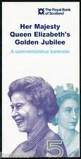 SCOTLAND   Royal Bank  Presentation Folder for 2002 Golden Jubilee £5 note
