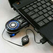 Black Mini USB Strong Cool Air Cooler Idea Cooling Fan for Laptop Notebook OY