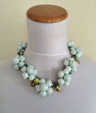 NWT $158 Authentic Jcrew Pop Crystal Necklace Style E3526 Frost Blue