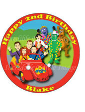 19cm Round Personalised Wiggles Big Red Car & Friends Edible ICING Cake Topper
