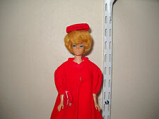 Pretty Vintage Ash Blonde Bubble Cut Barbie Doll W/Red Flare