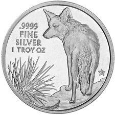 2016 BU Texas Silver Round   The Coyote   1 Ounce .9999 Fine Silver - USA COIN