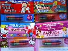 Lot of 4 Write On/Wipe Off   Activity Board   Printing Practice W/Crayons