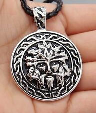 """Celtic GreenMan Silver Pewter Pendant with 20"""" Free Necklace PP#278"""