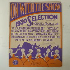 songsheet ON WITH THE SHOW 1930 selection