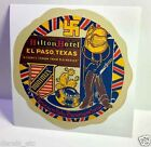 Hilton Hotel El Paso Vintage Style Travel Decal / Vinyl Sticker, Luggage Label