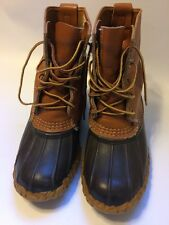 "L.L. LL Bean 5"" Brown Maine Hunting Duck Rain Mud Rubber Leather Boots Size 7"