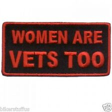 WOMEN ARE VETS TOO PATCH