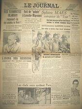 LE JOURNAL 17085 CODE DE LA FAMILLE LAROCHE-MIGENNES TOUR DE FRANCE MAES 1939