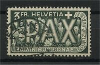 SWITZERLAND, NICE 3 FRANCS PAX  STAMP  FROM 1945, USED