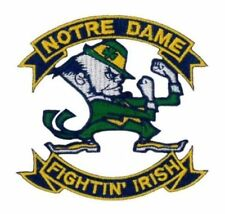 """Notre Dame Fighting Irish Vintage Embroidered Iron On Patch 3.25"""" x 3.1"""" NICE"""