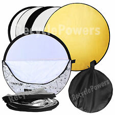 80cm 5 in 1 Collapsible Disc Photo Photography Light Multi Reflector Panel Bag