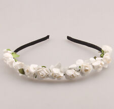 1PCS White Flower Headband Crown Wedding Garland Boho Hair band Beach Accessory