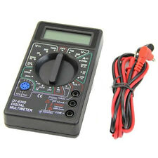 Pocket Digital Multimeter Ohm Voltmeter Ammeter AVO Meter DT830D Test Leads LCD