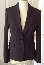 KAREN MILLEN .. BROWN FITTED  BUSINESS JACKET .. UK SIZE  8-10 VERY GENTLY WORN!