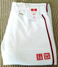 UNIQLO x Novak Djokovic 2014 U.S. Open Track / Warm-Up Pants M Dry-Ex White NEW!