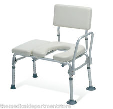 Guardian Padded Transfer Bench w/ Commode Opening 300lb Capacity G98013A