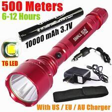 SMALL SUN 500meter 2000lumen CREE XM-L T6 LED Red Flashlight 18650 BATT 10000mAh