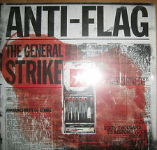 "12"" Vinyl LP Anti-Flag ‎– The General Strike ---- Oi Punk Black Rancid The Clash"