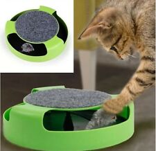 Pet Cat Kitten Catch The Mouse Moving Plush Toy Scratching Claw Care Mat Play UK