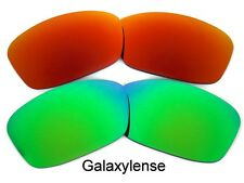 Galaxy Replacement Lenses For Oakley Hijinx Green&Red Polarized 2 Pairs