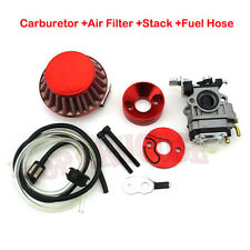 Red Carburetor Filter Vstack 33cc 43cc 49cc 50cc 52cc Pocket Bike Goped Scooter