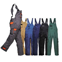 Texo TX12 Contrast Bib & Brace Overalls Coveralls Workwear Painters Dungarees