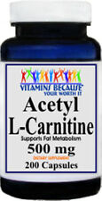 Acetyl L-Carnitine Free Form 500mg 200 Capsules