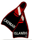 SCUBA DIVE PATCH - CAYMAN ISLANDS  FLIPPER PATCH