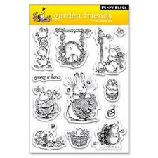PENNY BLACK RUBBER STAMPS CLEAR GARDEN FRIENDS STAMP SET