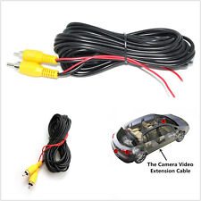 33ft RCA Car Vehicle Reverse Rear View Parking Camera Video Extension Cable Wire